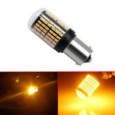 1pc Amber BAU15S 1156 Turn Signal Light PY21W 144SMD Canbus No Error LED Bulb