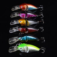 Deep Diving Hard Bionic Bait Fishing Lures 6# Hooks Plastic Hard Crank