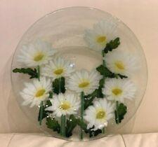 "Peggy Karr Art Glass Daisy Daisies Bowl 10 5/8"" Signed"