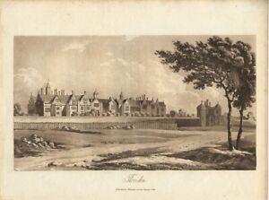 1821 Beautiful Sepia AQUATINT THORNDON SUFFOLK UK Published J Mawman
