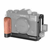 SmallRig Arca L Bracket with Wooden Handle for Fujifilm X-T20 X-T30 APL2357