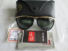 Ray Ban black / gold frame sunglasses. RB 2219 OLYMPIAN AVIATOR. New.