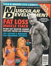 MUSCULAR DEVELOPMENT Bodybuilding Magazine /Lee Priest/Lisa+Mandi 4-02