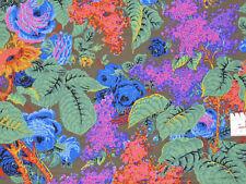 18,93€/m² => 25cmx112cm: LILAC Moss - Blumen + Blätter - Kaffe Fassett