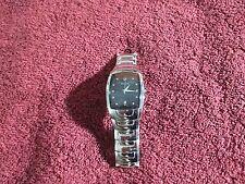 AS IS Bulova Men's Watch C876727 Classic Design Black Stainless Steel 96G46
