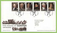 G.B. 2011 House of Hanover set on Royal Mail First Day Cover, Tallents House
