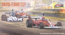 1975d FERRARI 312T, ANDERSTORP, SWEDEN F1 cover signed ROELOF WUNDERINK