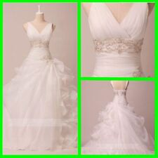 Chic Ruffled Organza Wedding Dress Debutante Gown W792