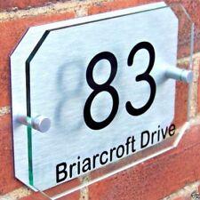 b43b49d58aa Customized House Door Number Plaque Sign Name Plate Glass Acrylic Aluminium