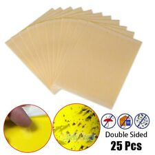 25x Double Sided Yellow Sticky Glue Paper Insect Trap Catcher Killer Fly Aphids