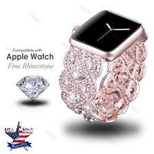 For Apple Watch Series 4 44mm 40mm Rhinestone Diamond Watch Band Bracelet Strap