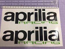 Aprilia Racing Track bike road fairing Decals Stickers PAIR #116BG