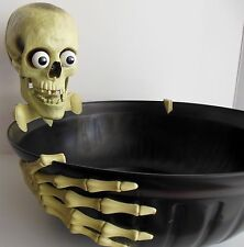 Animated Skeleton Gemmy Talk Candy Dish Bowl MOTION ACTIVATED Halloween Skull