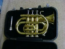 JUPITER BRASS TRUMPET WITH CASE AND MOUTH PIECE JPT 416 GOLD COLOUR