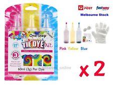 One Step 2X3 Color Tie Dye Kit Classic Super Max Vibrant Bright Colour NON-Toxic