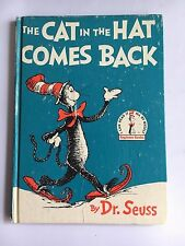 """The CAT in the HAT COMES BACK"" 1958 Dr. Seuss Hardcover Beginner Book GOOD COND"