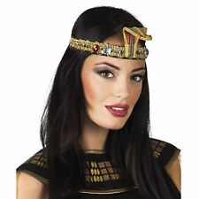 Gold Snake Headband Nile Queen Egyptian Cleopatra Queen History Book Fancy Dress