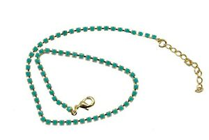 Turquoise Anklet 18k Gold Plated - Turquoise Adjustable Anklet Chain