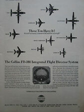 12/1965 PUB COLLINS RADIO FD-108 INTEGRATED FLIGHT DIRECTOR SYSTEM ORIGINAL AD