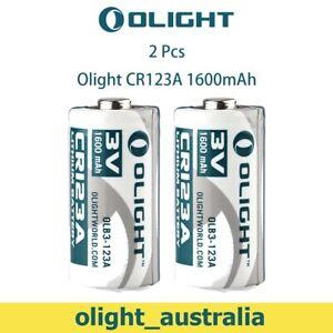 2PCS OLIGHT Lithium Battery CR123A 3V 1600mah for Olight LED Flashlight