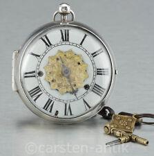 Masson a Paris 1685-86 Museale einzeigrige Oignon mit Alarm Originalschlüssel
