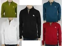 Burberry Brit Men's Long-Sleeve Pique Polo Shirt Check Placket S M L XL XXL 3XL