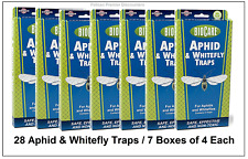 28 Aphid and Whitefly Traps 7 Boxes of 4 Each Total 28 Traps / Safe & Effective