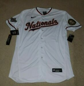 Nike Washington Nationals Scherzer World Series champions program jersey sz 44
