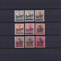 DANZIG GERMANY 1920, Mi#32-40, CV 600 €, MLH
