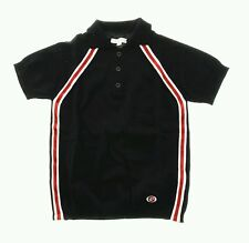 NWT NEW Gucci boys navy blue wool sweater knit polo collar red white web 6y 10y