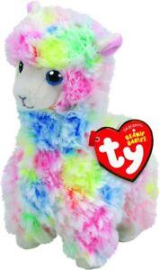 NEW TY Beanie Babies Reg Lola Multicolour Llama from Mr Toys
