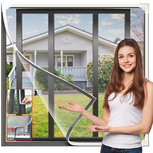 Fliegengitter Magnetrahmen Insektenschutz für Fenster ohne Bohren Mückenschutz