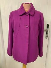 16 WOMENS PINK COLLARED JACKET COAT COLLAR WARM WINTER IMMACULATE CON ELEGANZE