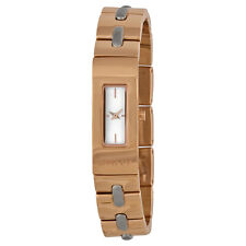 NEW DKNY BEEKMAN ROSE GOLD TONE+SILVER STITCHES, SMALL BRACELET WATCH NY2141