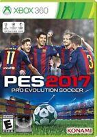 NEW Pro Evolution Soccer PES 2017 (Microsoft Xbox 360, 2016)