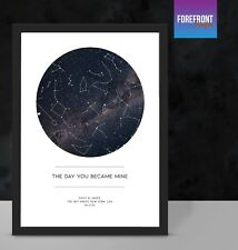 Personalised star/sky map keepsake - special valentines day couple gift idea