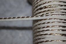 2 yards $1 white metallic gold Lip Cord Piping upholstery NON stretch Trim 1/4""