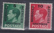 1936 EDVIII MOROCCO AGENCIES & VALUE OVPTS UNMOUNTED MINT SG160/161