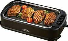 Smokeless indoor power electric grill