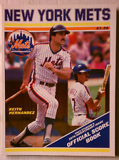 NEW YORK METS SCORECARD KEITH HERNANDEZ MLB BASEBALL SHEA STADIUM JULY 24 1988