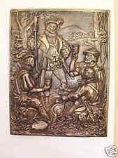 Bas relief  plaque chasse François 1er patine bronze