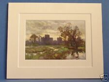 ST. CROSS FROM THE MEADOWS WINCHESTER VINTAGE DOUBLE MOUNTED HASLEHUST PRINT