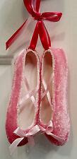 Christmas Village Pink Glitter Ballet Shoes Christmas Tree Ornament Decoration