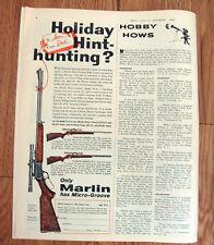 1960 Marlin 22 Rifle Gun Ad  Model 101 Model 81-C