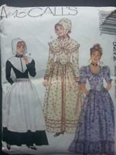 McCall's Sewing Pattern 5272 Woman's Frontier Thanksgiving Costumes 8