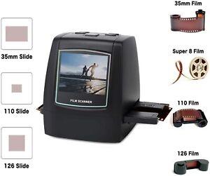 """22MP Escáner de Negativos y Diapositivas Convertidor Digital con 2,4""""LCD Super 8"""