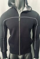 New Armani Exchange AX Mens PULLOVER WITH ZIP, HOOD AND CONTRASTING PIPING