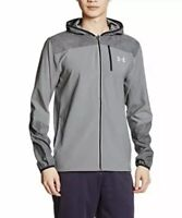 a52043a6011 Mens Large Under Armour Storm Full Zip Running Jacket Gray Hooded  1289752-040