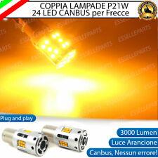 COPPIA LAMPADE P21W BA15S CANBUS 3.0 24 LED AUDI A6 C5 PER FRECCE POSTERIORI