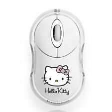Blue Stork Mouse Ottico per PC USB 800dpi Bumpy Collection Hello Kitty, Bianco